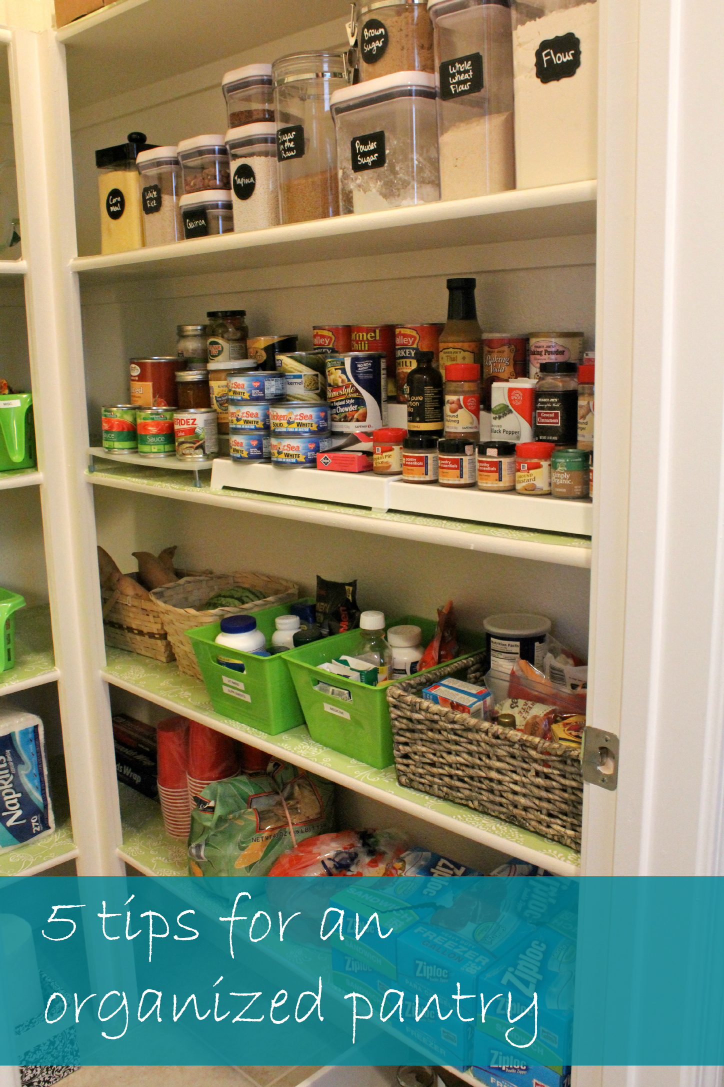 5 Tips For A Gorgeous And Organized Pantry: An Organized Pantry