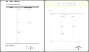 worksheet planner collage