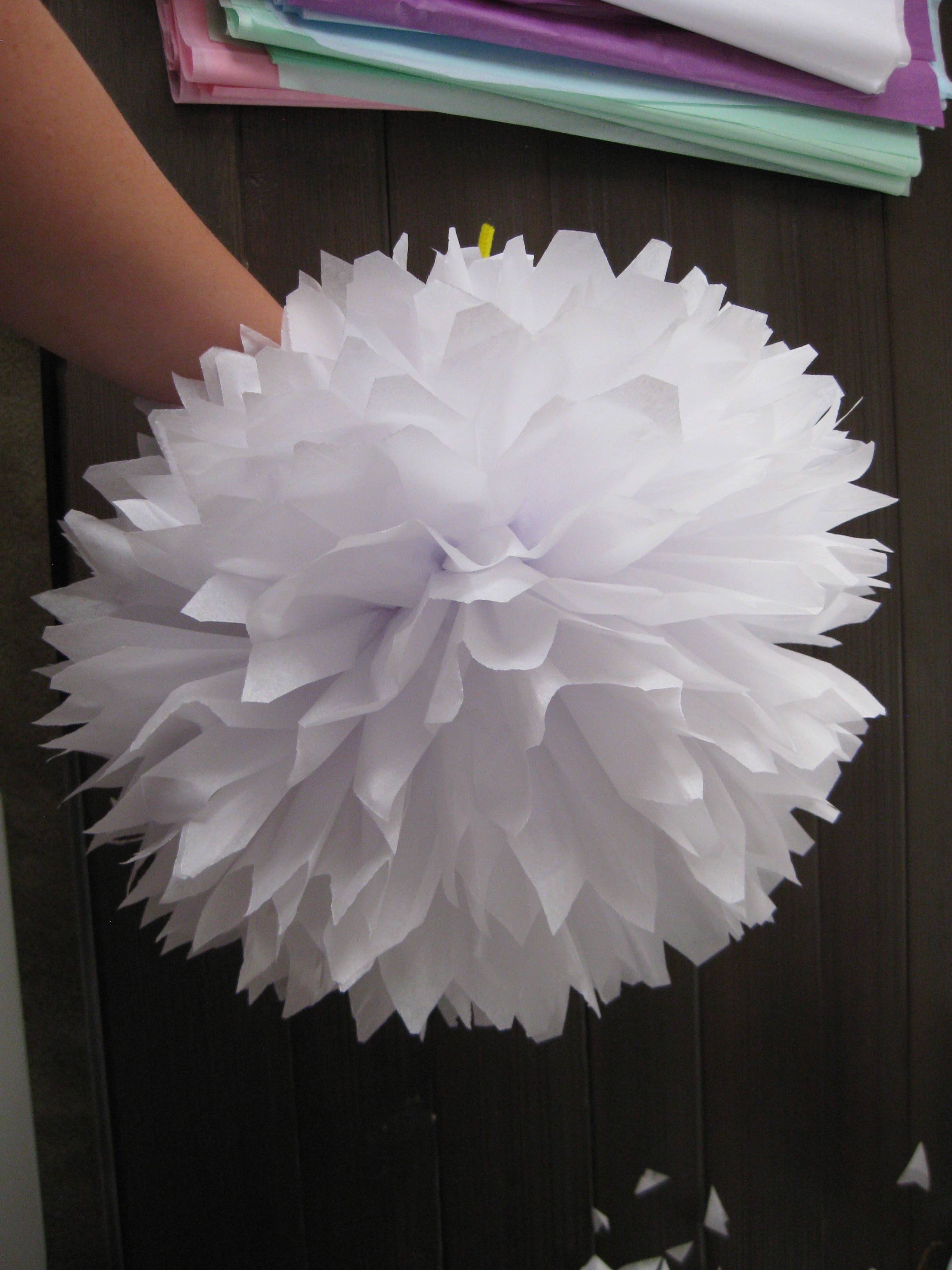 tissue paper pom poms and wedding bouquet the silberez life. Black Bedroom Furniture Sets. Home Design Ideas