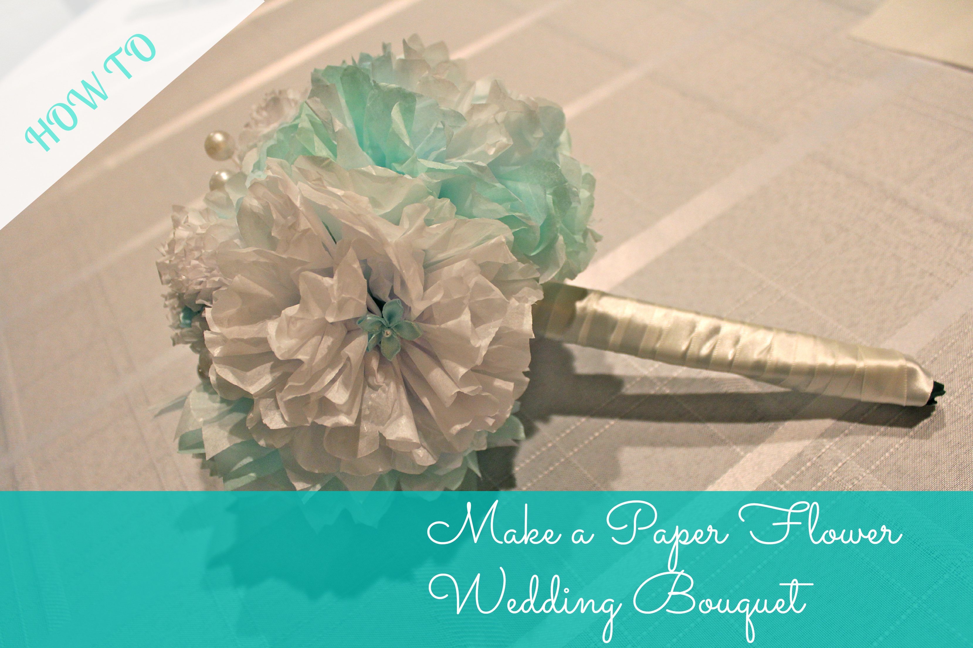 Tissue paper pom poms and wedding bouquet the silberez life make a paper flower wedding bouquet mightylinksfo