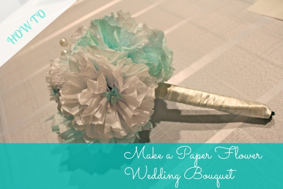 Make a paper flower wedding bouquet