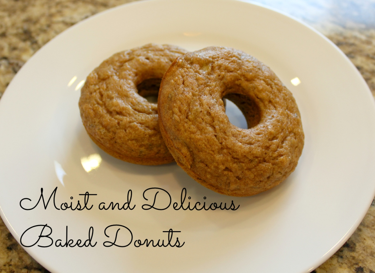 Baked honey whole wheat banana donuts