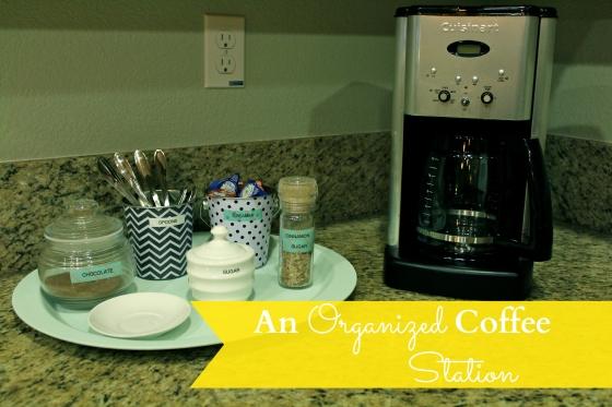 an organized coffee station