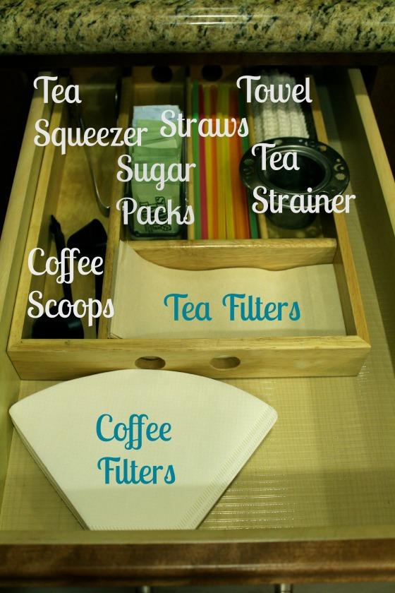 coffee and tea drawer