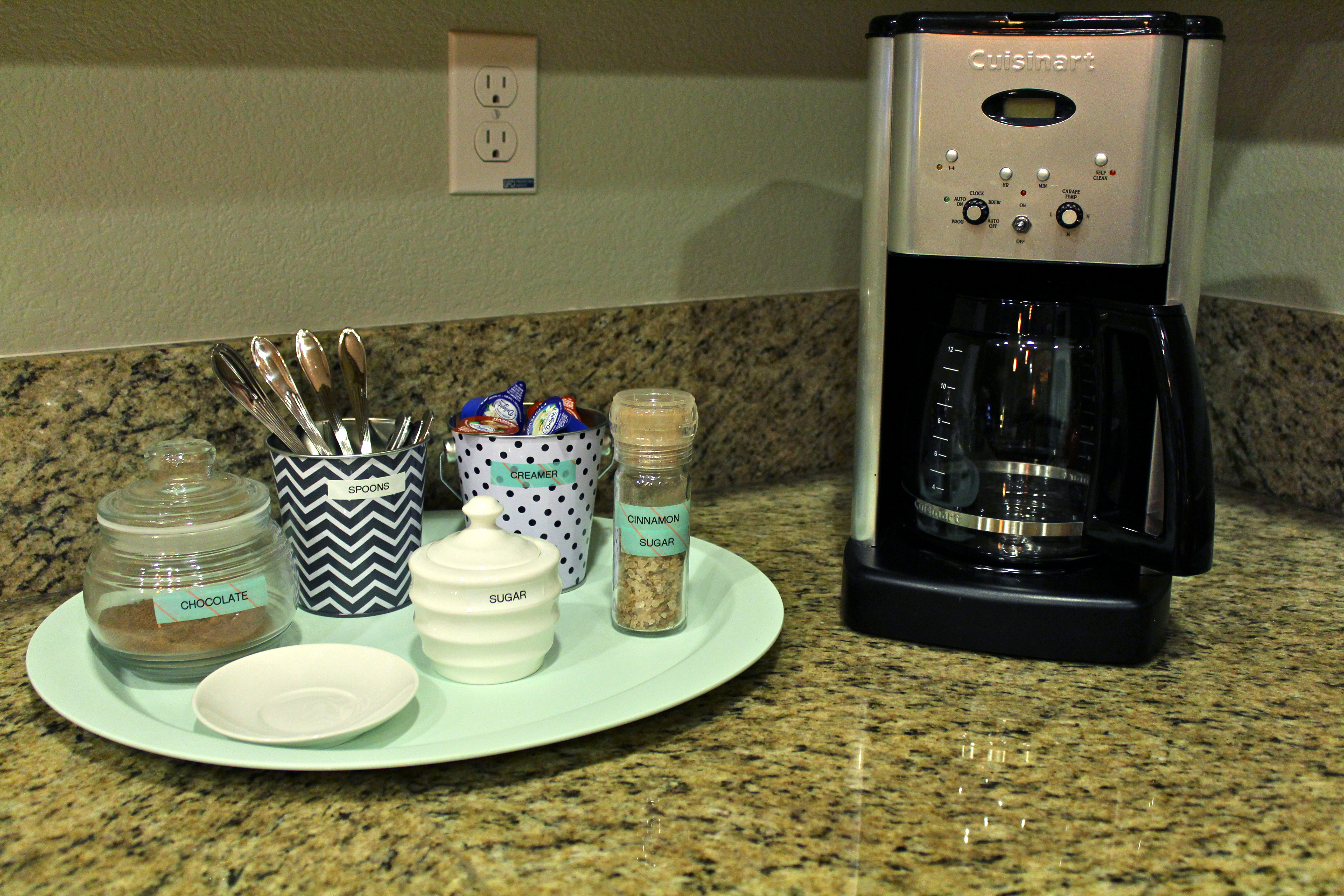 An organized coffee station the silberez life for How to set up a coffee station