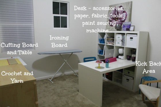 craft room lay out