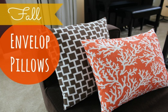 Fall envelop pillows