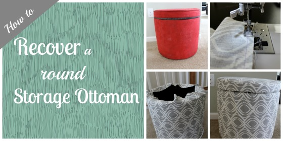 How to recover a round storage ottoman